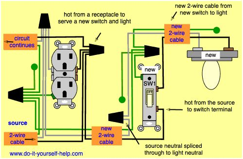Wiring Diagrams To Add A New Light Fixture