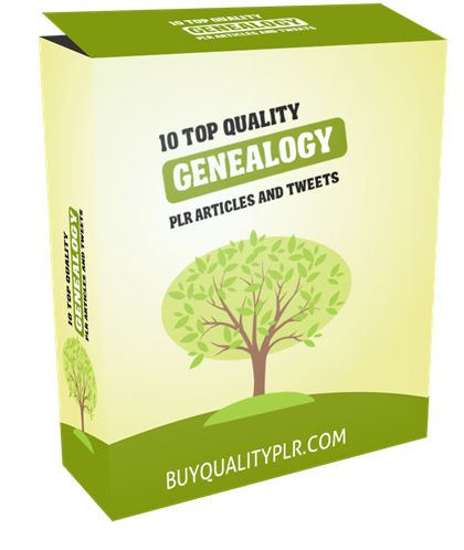 10 Top Quality Genealogy PLR Articles and Tweets - http://www.buyqualityplr.com/plr-store/10-top-quality-genealogy-plr-articles-tweets/.  #genealogy #censusrecord #familyhistory #historyresearch #dnatest #genealogyresearch 10 Top Quality Genealogy PLR Articles and Tweets In this PLR Content Pack You'll get 10 Top Quality Genealogy PLR Articles and Tweets with Private Label Rights to help you dominate the Genealogy market which is....