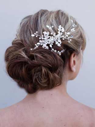 Hand Beaded Bridal Hair Comb ~ Joyful