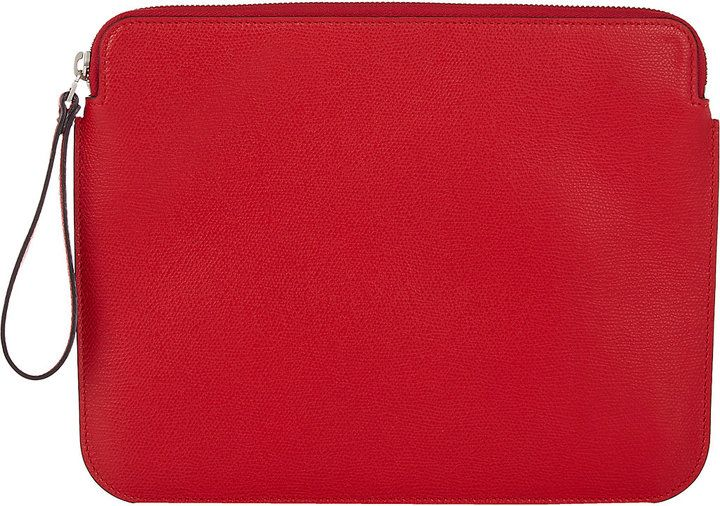 Valextra Men's iPad® Pouch-RED