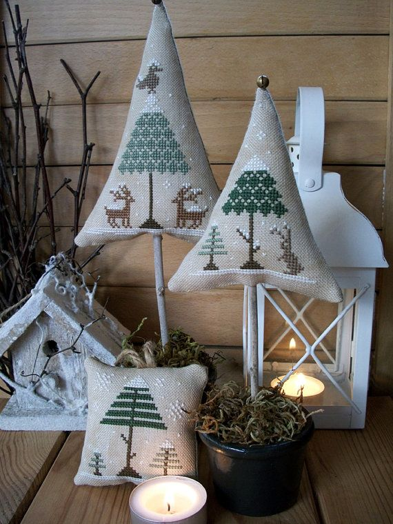 Winter Wood PDF Digital Cross Stitch by LittleStitcherShop