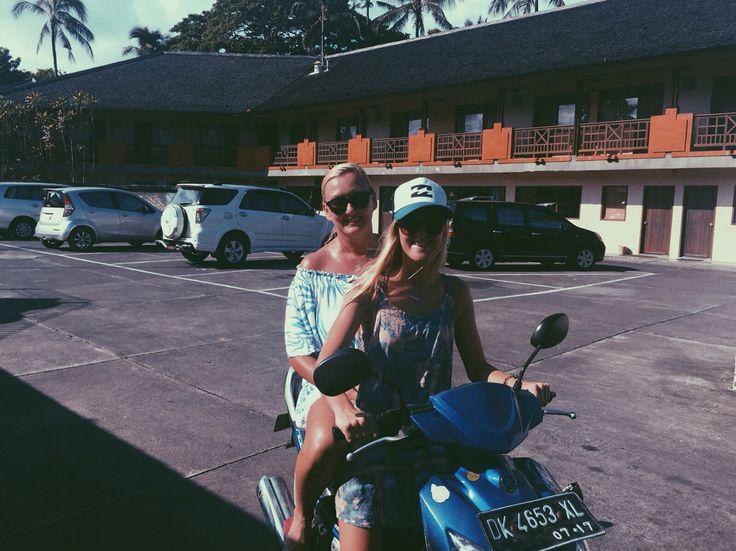 The hazardous scooters around Nusa Dua, Bali.