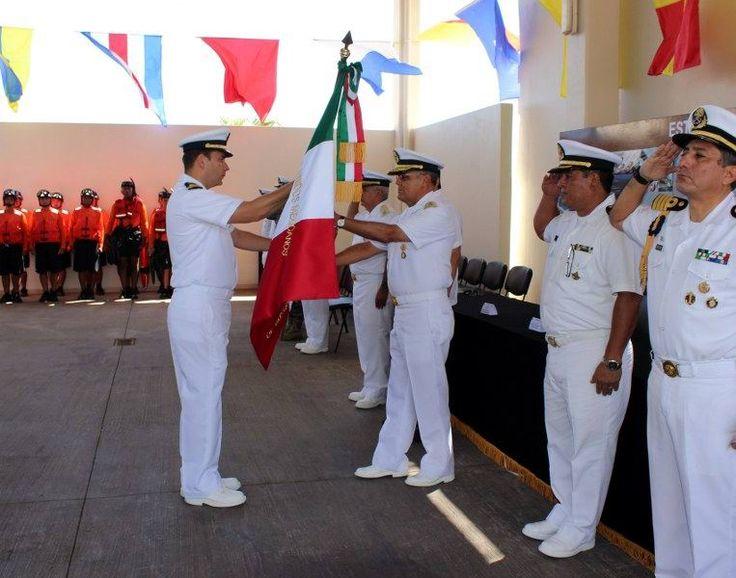 Abanderan la Estación Naval de búsqueda y Rescate de Isla Mujeres
