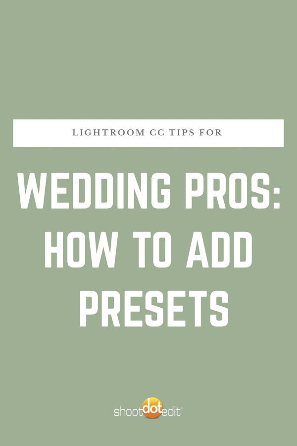 Adding Presets To Lightroom Cc