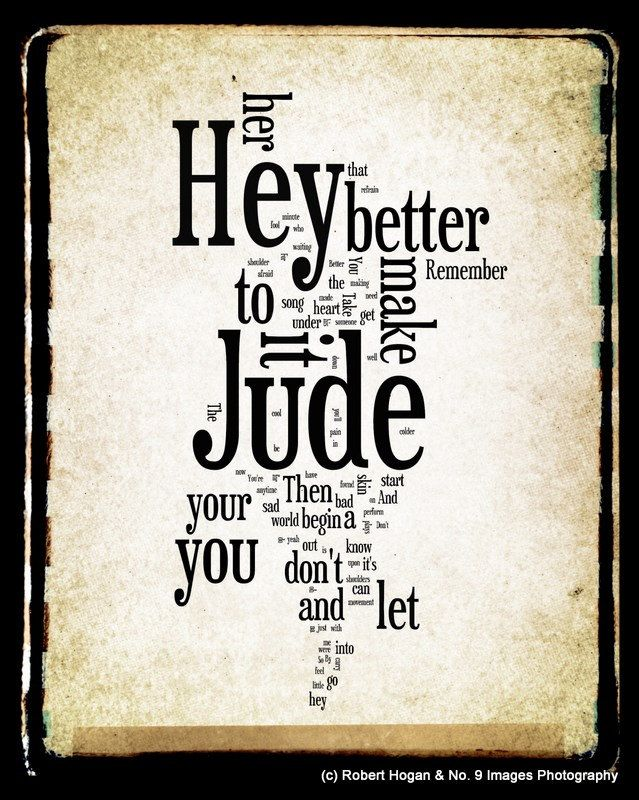 beatles lyrics hey jude - 639×800