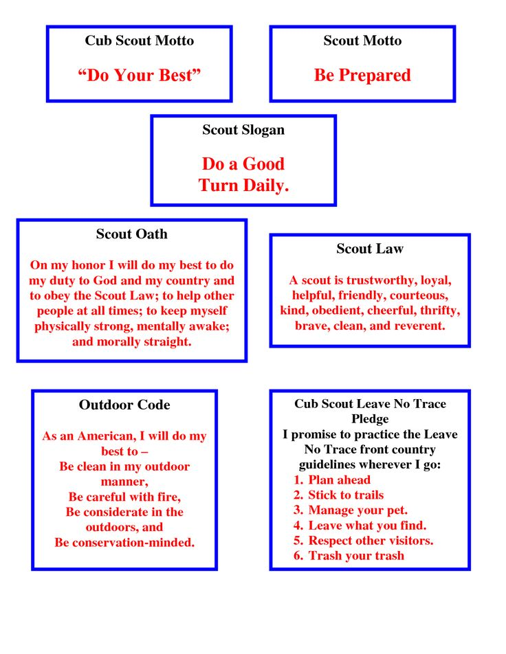 graphic regarding Boy Scout Oath and Law Printable known as Pin upon Cub Scouts