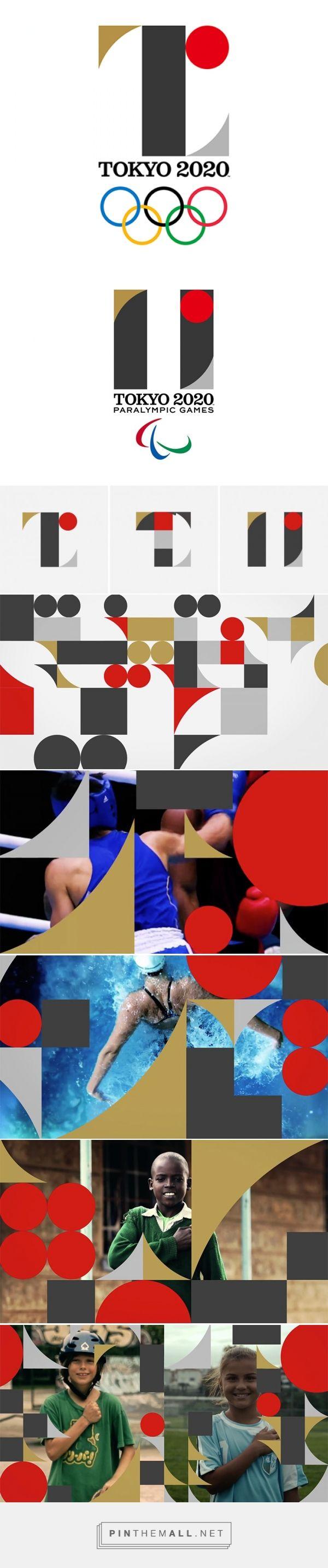 the official tokyo 2020 olympics logo by kenjiro sano - created via http://pinthemall.net