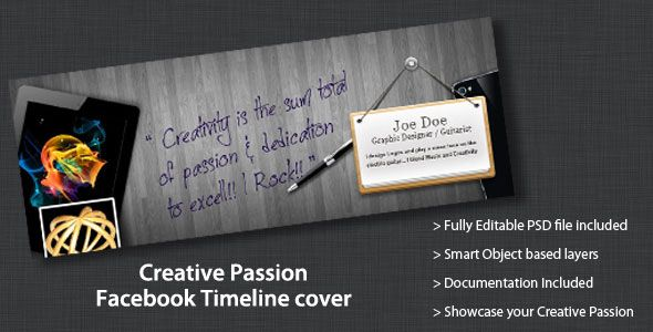 Creative Passion Facebook Timeline Cover