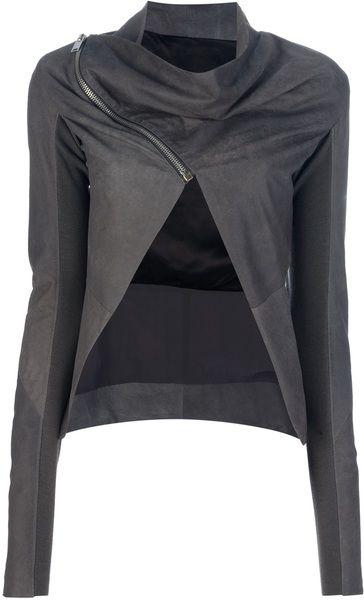 Cropped Jacket - Lyst