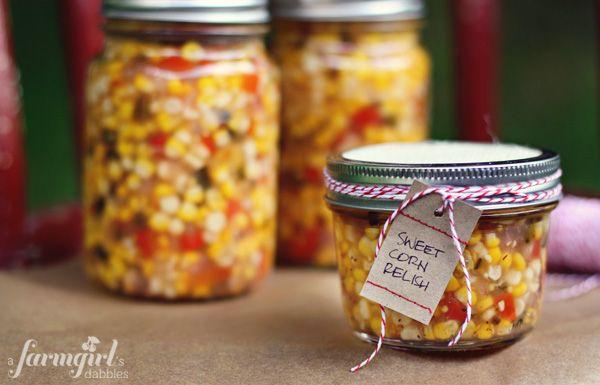 sweet corn refrigerator relish - a farmgirl's dabbles: Refrig Pickled Sweet, Recipe, Refrigerators Relish, Refrig Relish, Zesty Sweet, Farmgirl Dabbl, Corn Relish, Corn Refrigerators, Sweet Corn