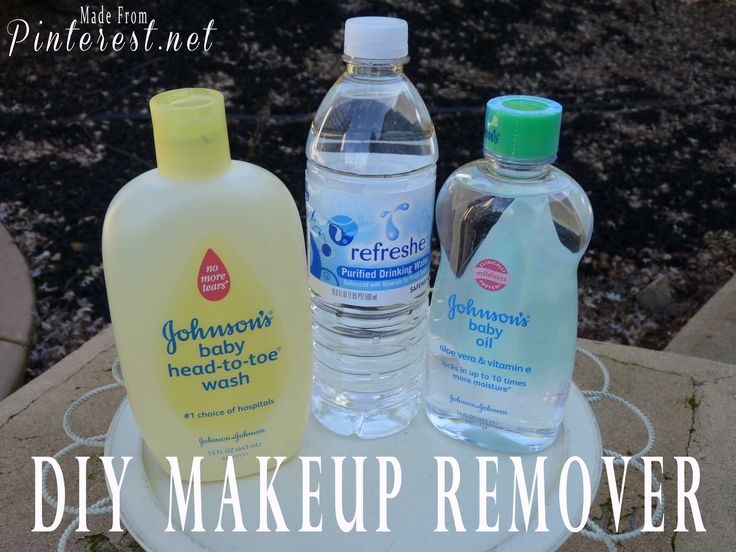 Eye Makeup remover :: 1 cup water + 1.5 tbsp baby body wash + 1/4 tsp baby oil