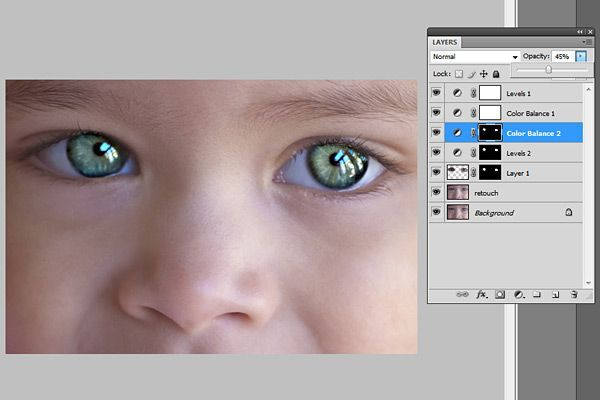 how to fix flash eyes in photoshop