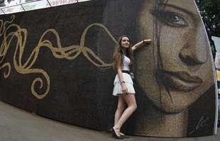 Street art. Mosca, mosaico fatto con i chicchi di caffé: è il più grande - Repubblica.it Mobile