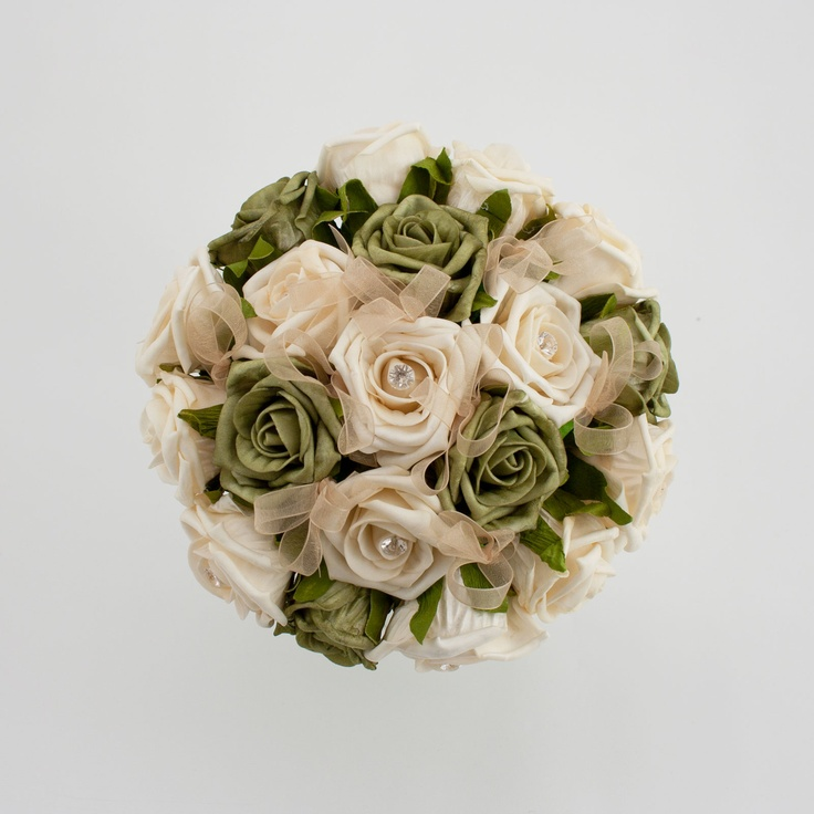 Green Cream And Gold Bridal Posy