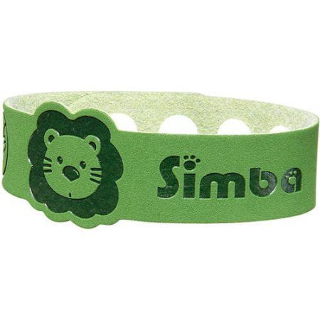 Simba Mosquito Repellent Bracelet, Choose your color, Green