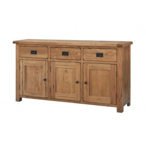Rustic Solid Oak SRDS45 Large Sideboard  www.easyfurn.co.uk