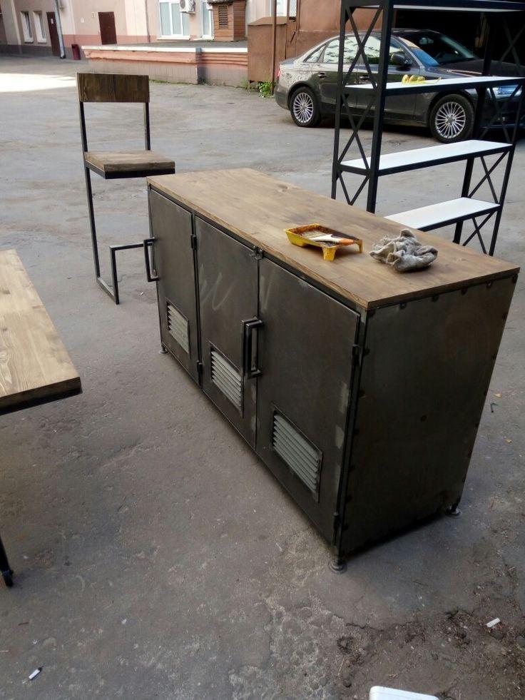Мебель из металла. Стальной-комод в индустриальном стиле в Москве от производителя.