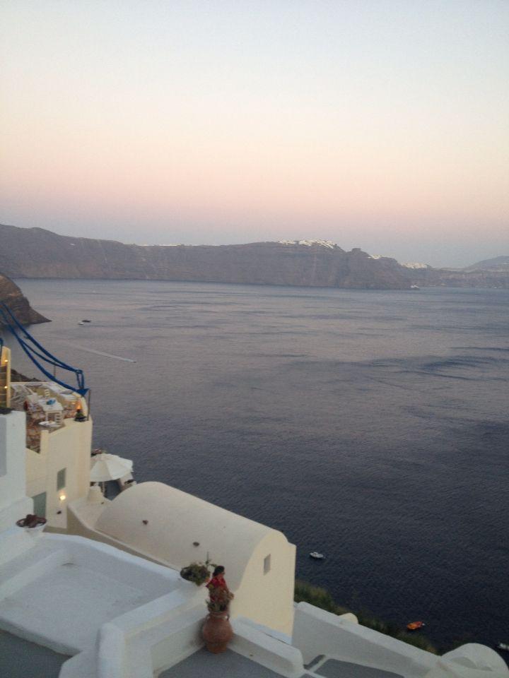 Santorini just after sunset