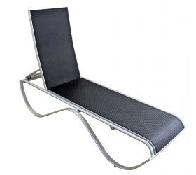 This 'Wave' Sunlounge is a Commercial grade sunlounge with powdercoated aluminium frame and textilene sling.