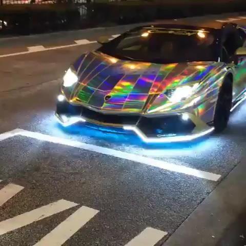 Crazy Rainbow Lamborghini Aventador... Hot or Not❓ #cardoings #cars #supercars #auto #BMW #Audi #Mercedes #Deals #automotive
