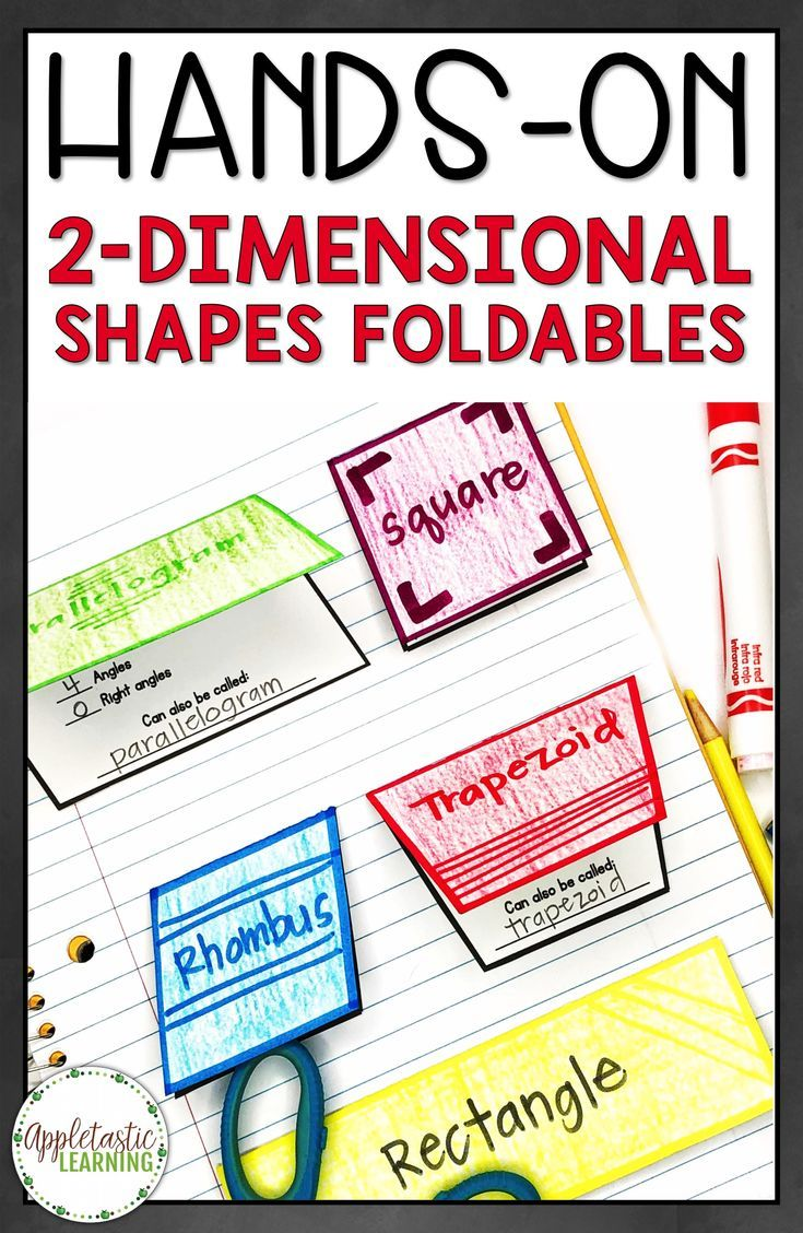 2D Shapes Foldables and 2 Dimensional Shapes Foldables are fun for  elementary students in 3rd grade [ 1128 x 735 Pixel ]