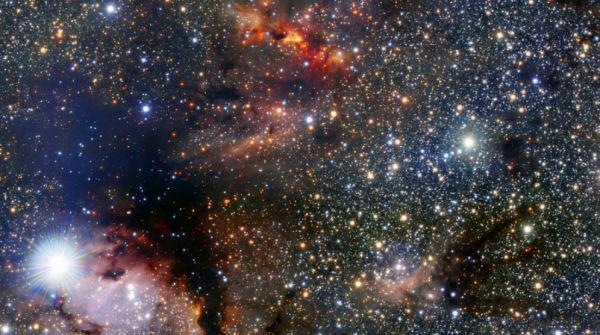 Una piccola parte della via Lattea che si trova vicino alla costellazione dello Scorpione, in prossimità del piano centrale della nostra galassia (Foto: Nasa)