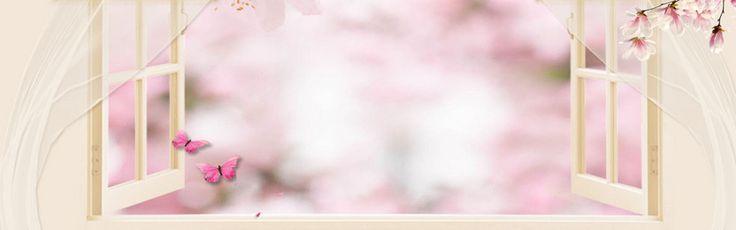 pink fresh outdoor window electricity supplier banner