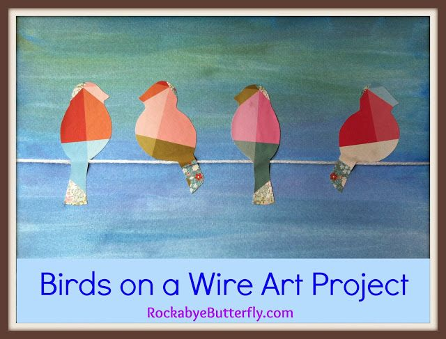Adapt for different size birds, inclusion, diversity, acceptance/bullying, etc, adapt using more traditional collage methods: Birds on a Wire Art Project