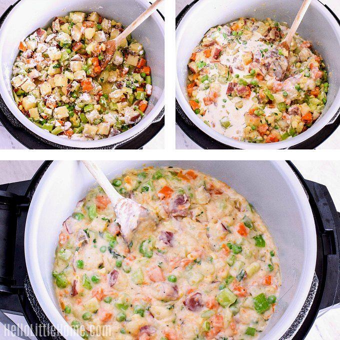 Veggie Pot Pie In The Ninja Foodi Recipe Vegetarian Pot Pie Instapot Vegetarian Recipes Veggie Pot Pie