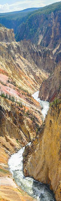 The Grand Canyon of the Yellowstone, Yellowstone National Park, Wyoming - Vertical panorama photography by Aaron Spong http://aaron-spong.artistwebsites.com/featured/the-grand-canyon-of-yellowstone-aaron-spong.html