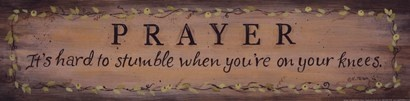 Prayer.  It's hard to stumble when you're on your knees.