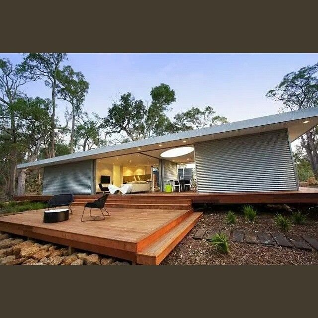 Like that Otha's a roof overhang and opens onto the deck