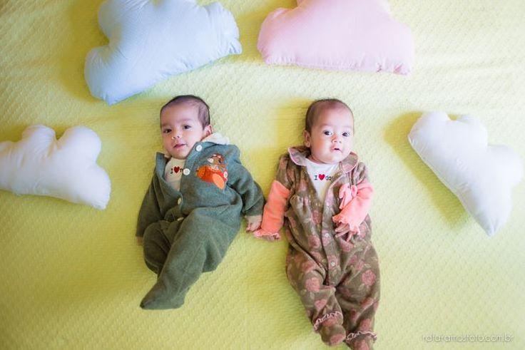 Bea e Gui  Acompanhamento infantil gêmeos 3 meses