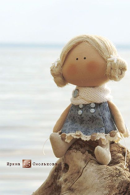 текстильная куколка-малышка - тёмно-синий,кукла,кукла текстильная,кукла ручной работы