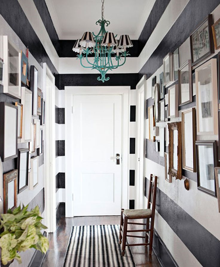 Black and white decor decorate entrance entrance hall Design ideas for hallways and stairs