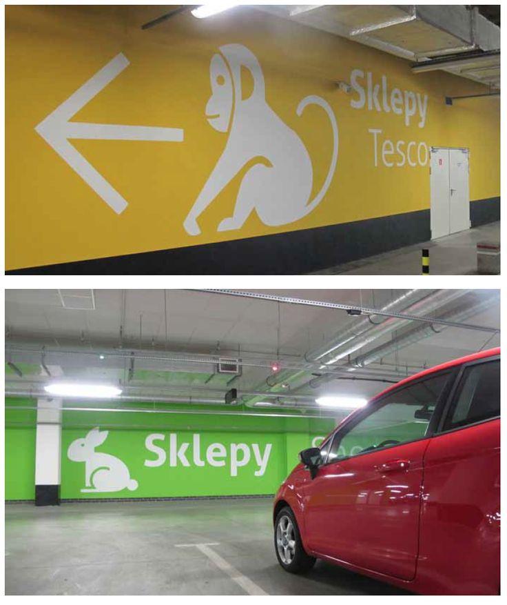 Silesia City Centre Katowice   Carpark Signage (Wall Graphics)