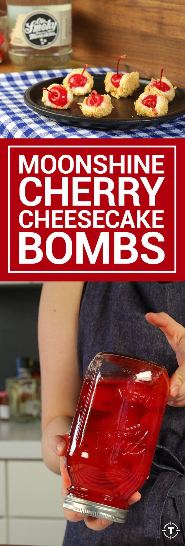 How to Make Moonshine-Infused Cherry Cheesecake Bombs