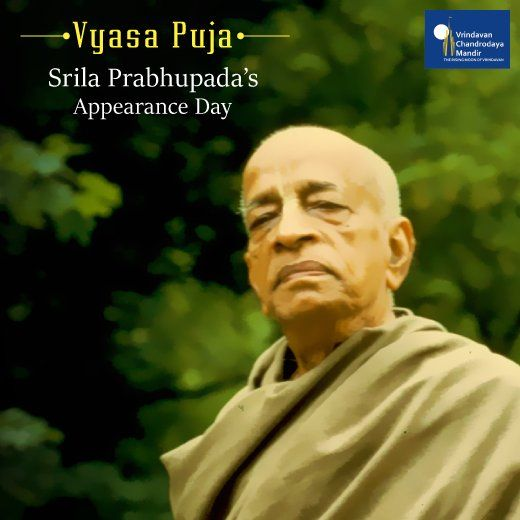Today is the auspicious day of the appearance of Srila Prabhupada, the Founder-Acharya of ISKCON.