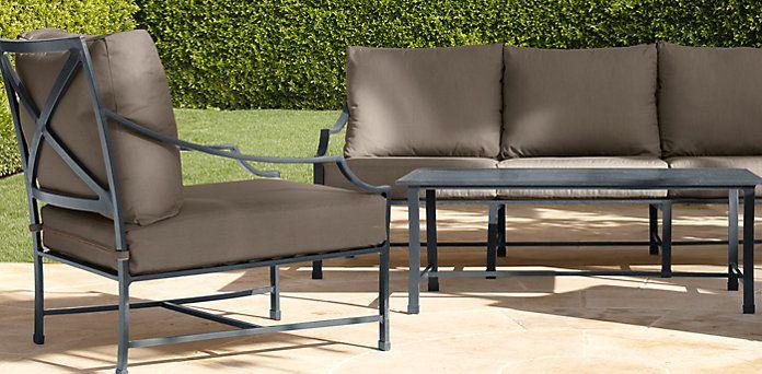 Carmel Weathered Zinc Restoration Hardware Colors Outdoor Furniture Pinterest