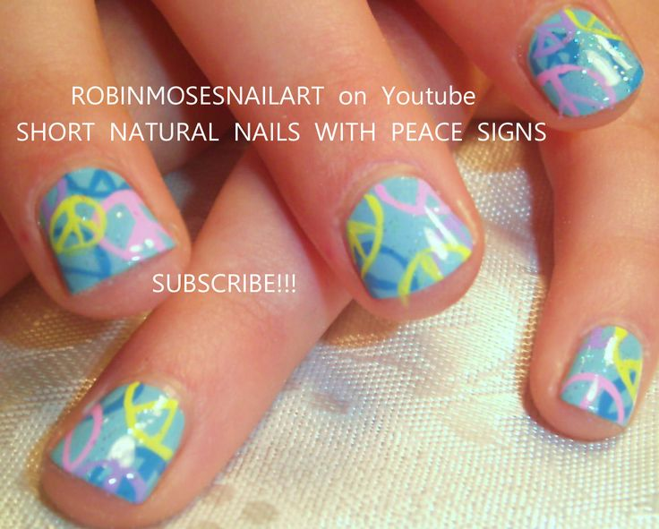Nail-art by Robin Moses: paisley nail, retro nail design, green and pink nail, bandana nail, peace sign nail, funky nail, unique nail, flawless nail, robin egg blue nail, orly frisky, retro nail, pastel nail,