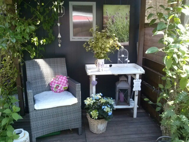 Opgepimpte oppottafel van de praxis tuin pinterest van for Tuin praxis