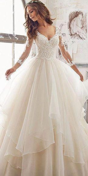 luxury wedding sexy luxury evening appliques Evening stunning sexy Wedding Dress long sleeves Paige bridal dress