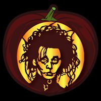Edward Scissorhands CO - Stoneykins Pumpkin Carving Patterns and Stencils