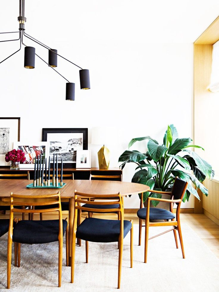 Like these dining chairs.... //A Midcentury-Modern Family Apartment in SoHo via @MyDomaine