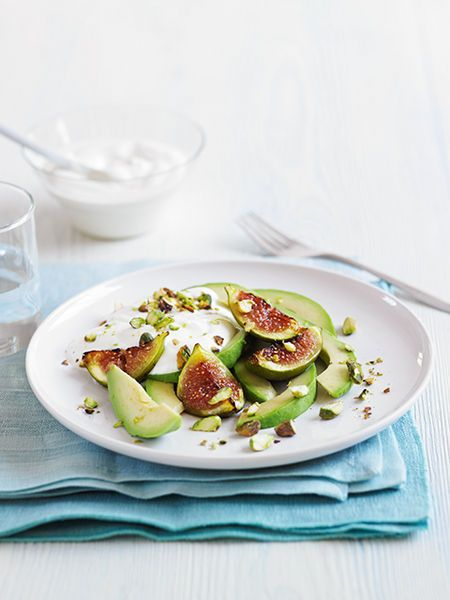 fig) Grilled figs with avocado and natural yogurt #recipe