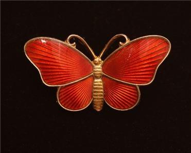 Vintage Ivar T Holth Norway Scandinavian Sterling Guilloche Enamel Butterfly Pin | eBay