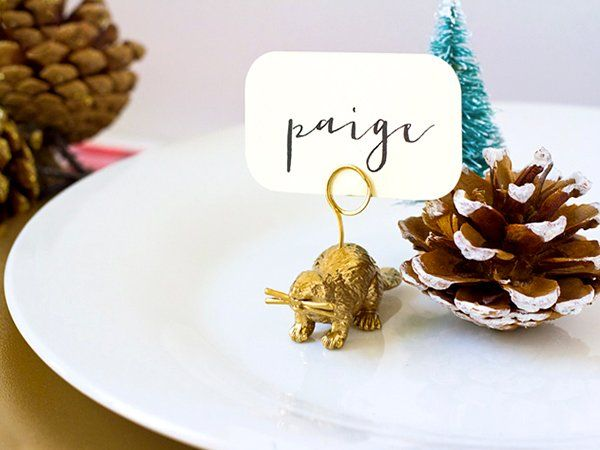 diy animal place card holders