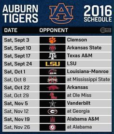 auburn football schedule - Google Search