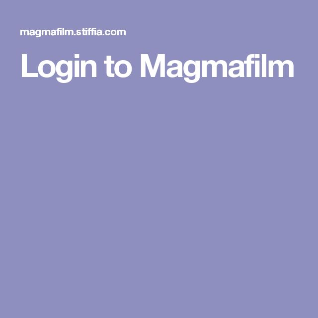 Login to Magmafilm