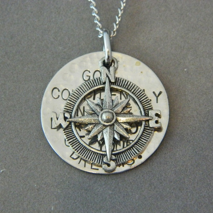 Go Confidently in the Direction of your Dreams with Compass Necklace.W A N T ! ! Like seriously. Checking it out now. Someone bless me with this beautiful creation. :)